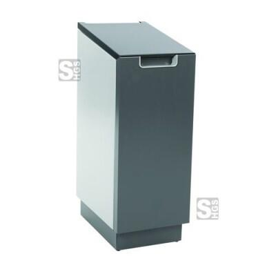 Recyclingstation -Connector Bin- 55 Liter aus Aluminium, wahlweise mit Pedal