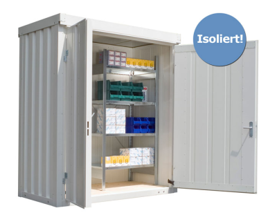 Materialcontainer -STIC 1100- mit Isolierung, ca. 2 m², wahlweise Holzfuß- oder isolierter Boden