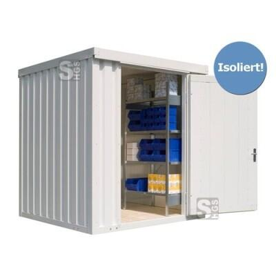 Materialcontainer -STIC 1200- mit Isolierung, ca. 4 m², wahlweise Holzfuß- oder isolierter Boden