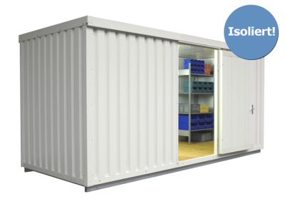 Materialcontainer -STIC 1500- mit Isolierung, ca. 10 m², wahlweise Holzfuß- oder isolierter Boden